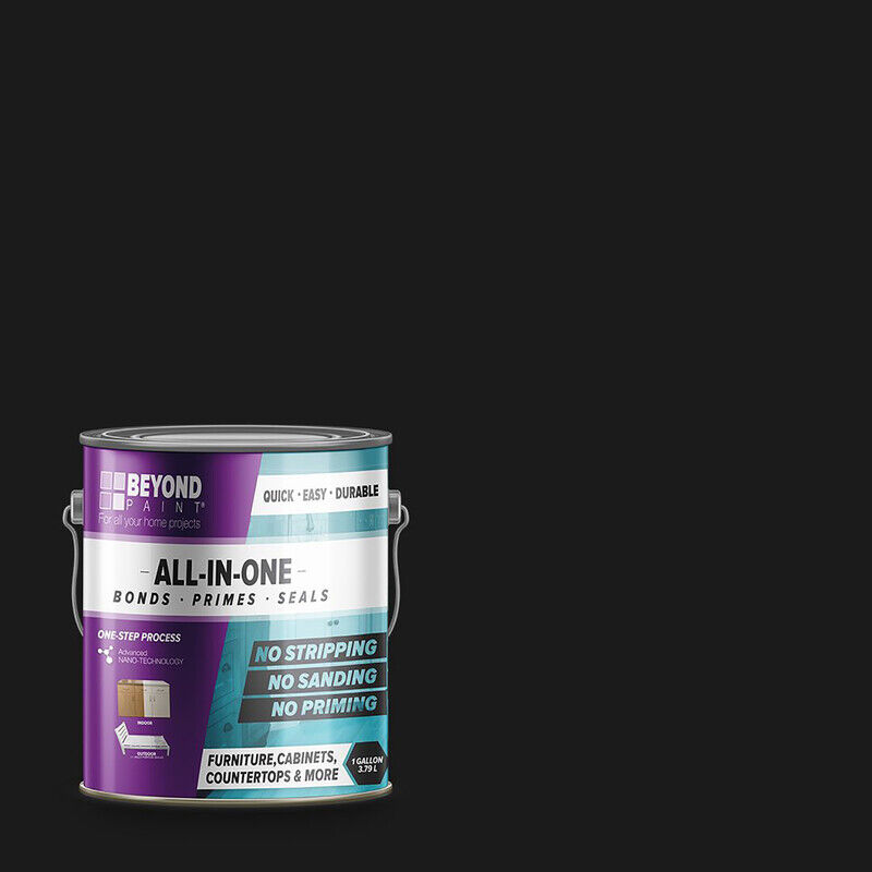 BEYOND PAINT Matte Licorice Water-Based Acrylic All-In-One Paint 1 gal.