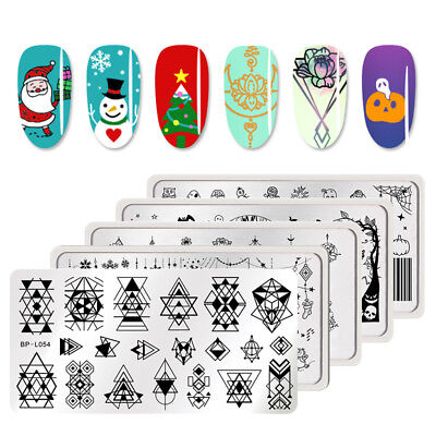 Pretty Halloween Nails (BORN PRETTY Halloween Christmas Theme Nail Art Stamping Plates Nails)