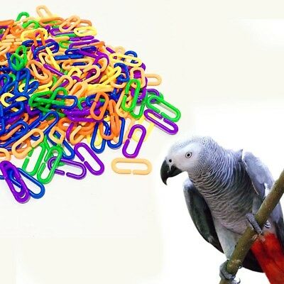 Bird Cage Toy Clips Hooks DIY Chain Links for Parrots Cockatoo Conure Parakeet