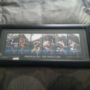 Original Six hockey picture frame