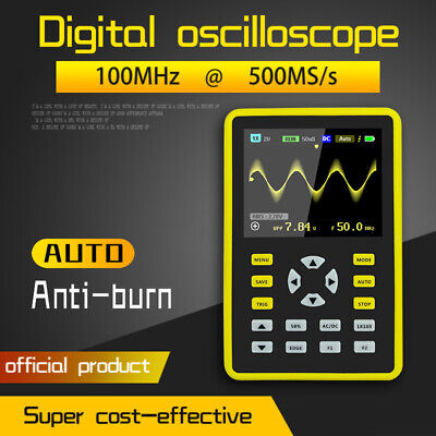 Handheld Digital Oscilloscope Ips Lcd Display Dso 2.4 100mhz 500mss Ads5012h