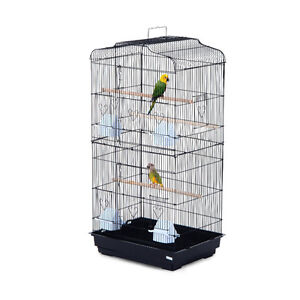 "Bird Cage 36"" Pet Play House Parrot Finch Cockatoo Macaw 2 Doors"
