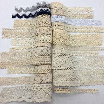 2yard Apparel Sewing Fabric Trim Cotton Crocheted Lace Fabric Ribbon DIY Crafts (Sewing Trim)