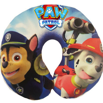 New Paw Patrol Chase & Marshall Travel Snuggly Neck Pillow