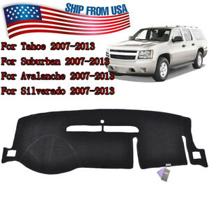 For GMC Yukon Sierra SLT Denali 1500 2007-2013 Dashboard Cover Dashmat Dash Mat