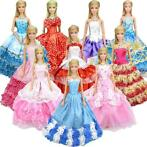 Willekeurige 5 Stks Barbie Pop Trouwjurk Prinses Gown + 5