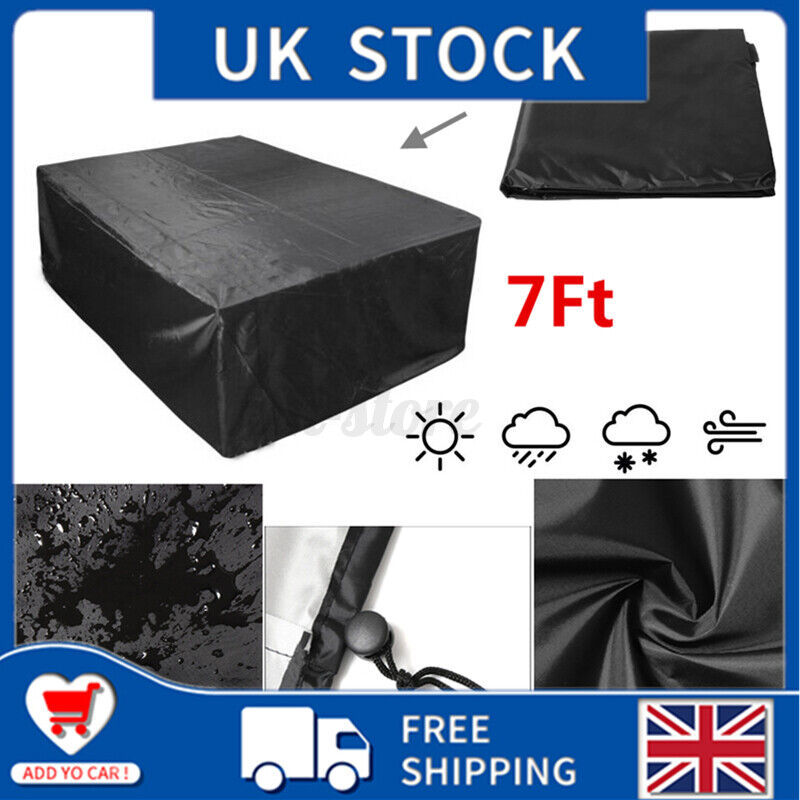 7Ft Waterproof Duty Snooker Billiard Table Cover Polyester Fabric Outdoor 1