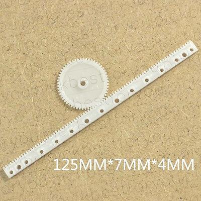 10pcs Gear Rack 0.5 Modulus Plastic Rack Pinion Drive Rod Diy Parts M4064 Ql