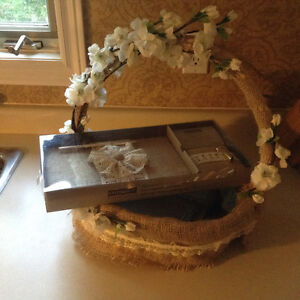 Wedding guest book and basket