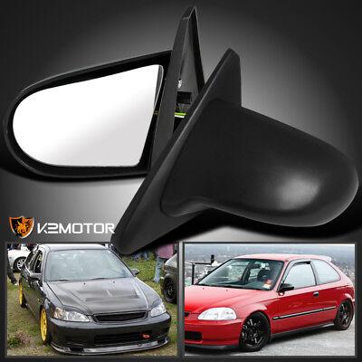 For 1996-2000 Honda Civic 2/3Dr EK Sport JDM Spn Power Side Mirrors Black -