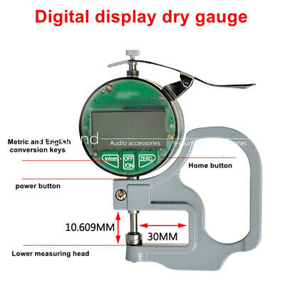 Oil Proof Micron Digital Thickness Gauge Meter Leather Thickness Measuring Tool