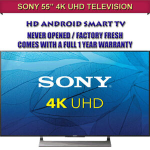 "BRAND NEW FACTORY FRESH 55"" SONY 4K TV - WARRANTY INCLUDED"