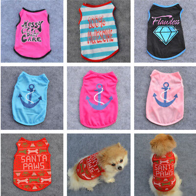 Cute Printing Puppy Small Dog Cat Pet Short Sleeve Vest T-Shirt Apparel Costumes](Cute Small Dog Costumes)