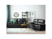 -- New real leather 3+2 seater sofas £559