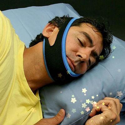 Stop Snoring Schnarchen Kinnriemen Anti-Apnoe Kiefer Lösung Schlaf Support Aid