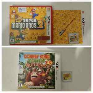 Nintendo 3DS Games Donkey along Country Super Mario Bros 2 Moose Jaw Regina Area image 1