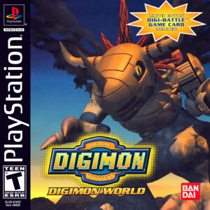Digimon world 1 ps1 rare game