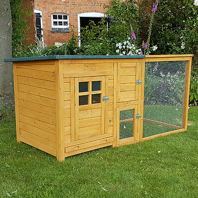 CHICKEN COOP & RUN HEN HOUSE POULTRY ARK HOME NEST BOX COUP COOPS RABBIT HUTCH +