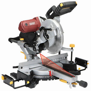 "12"" sliding dual bevel mitre saw w/stand"
