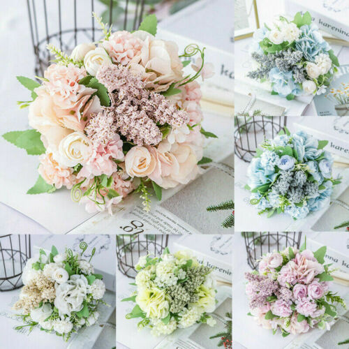 13 Köpfe Seidenblumen Kunstblumen Künstliche Blumenstrauß Floristik Blumen