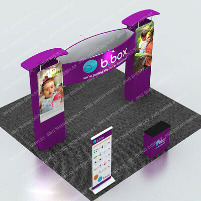 20ft Trade Show Display Booth Pop Up Stand With Custom Print Lights Counter 1