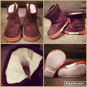 The cutest little infant boy booties ever!
