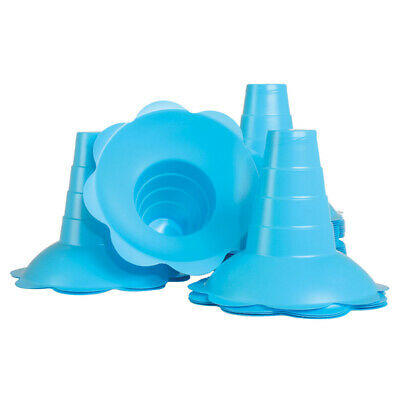 Large Shaved Ice Sno Cone Flower Cups 12 Oz 200 Count Blue