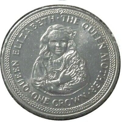 elf IOM Isle of Man Crown 1985 Queen Mum as a Young Girl