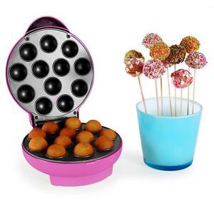 pop cake maker cakes waffel eisen muffin 1300 watt anti haft timer sweets pink ebay. Black Bedroom Furniture Sets. Home Design Ideas