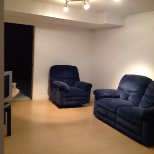Basement Bedroom & Common Area -$600