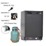 Smad 12V 36Qt 3-Way LP Gas Absorption Fridge Electric RV Truck Refrigerator