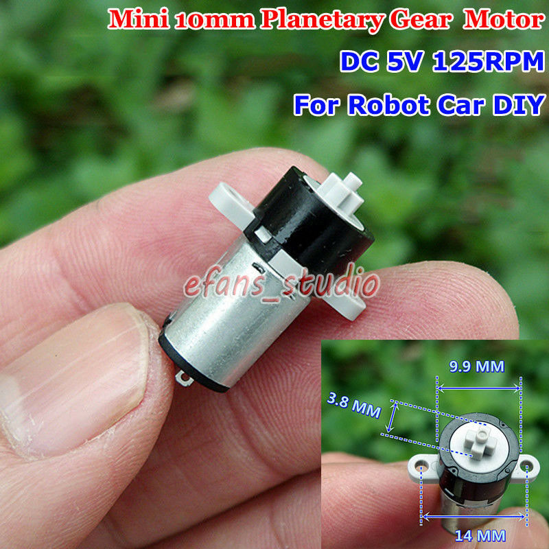 Mini Micro Gear Motor DC 3V 4.2V 5V 120RPM  Planetary Gearbox DIY Robot Arm Car