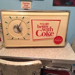 Vintage 1960's  Coca Cola Advertising Clock