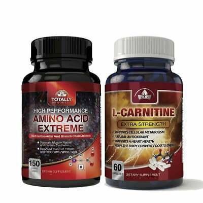 BCAA L-Carnitine Combo Pack Ultimate Muscle Gain Best Optimum 210 Caps Max