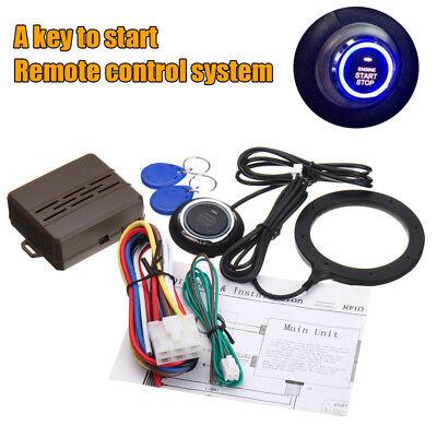 Universal Car Engine Start Push Button Switch Ignition Starter Kit  Remote RFID