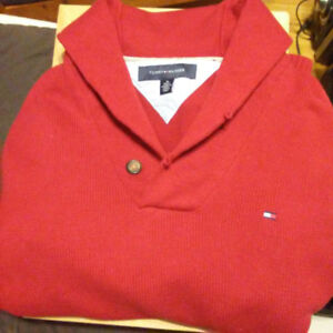 Tommy Hilfiger RED Collared Pullover Sweater (Size Medium)