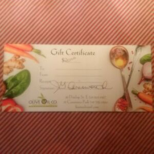 Olive Oil Co. ($20 Gift Certificate)