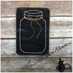 Mason jar string art