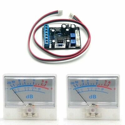 2pcs P-55 Vu Test Meter Db Level Header Detector W 1pc Ta7318p Driver Board