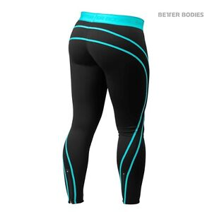 New- Better Bodies Althlete tights-Aqua