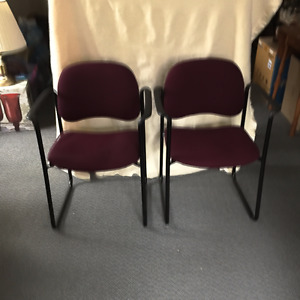 2 Slightly used office chairs for 40.00
