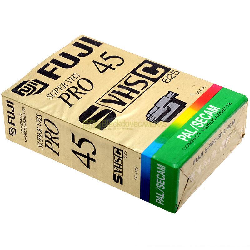 Fuji SE-C45 Pro Videocassetta Super VHS, nuova sigillata. Vergine. SVHSC 625