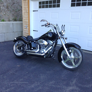 2002 Harley  Davidson Softail  fxst with wide tire kit