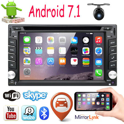 Android 7.1 Autoradio Bluetooth DVD GPS Navigation Doppel 2 DIN USB GPS 3G WIFI
