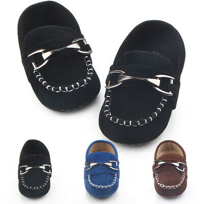Cute Metal Hasp Footwear Kid Crib Shoes Casual Boy Soft Newborn Loafers Slip on (Medium Footwear Casual Shoes)