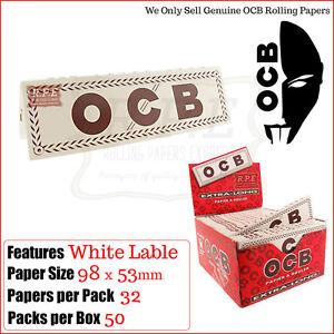 OCB-Blanco-Etiqueta-Tamano-King-Cigarrillo-Papeles-de-liar-Opciones