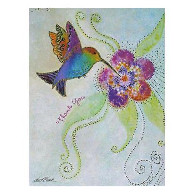 "Laurel Burch ""Flights of Fancy"" Humming Bird 8 Pack Note Cards With Envelope"
