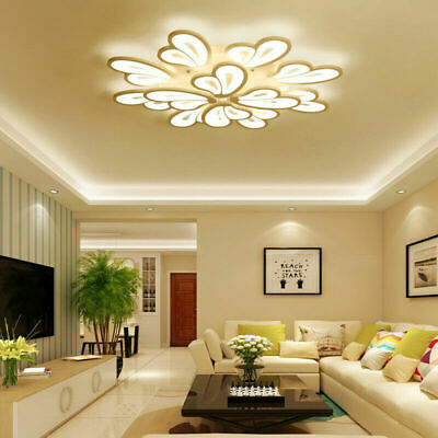 Warm Cool Butterfly Modern LED Acrylic Ceiling Lights Chandeliers Living Bedroom