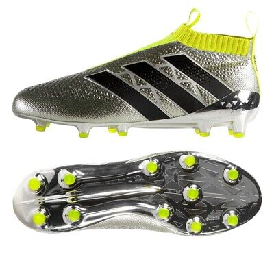 Adidas Ace 16+ Purecontrol FG Adults/Mens Football boots Silver/Black NEW IN BOX