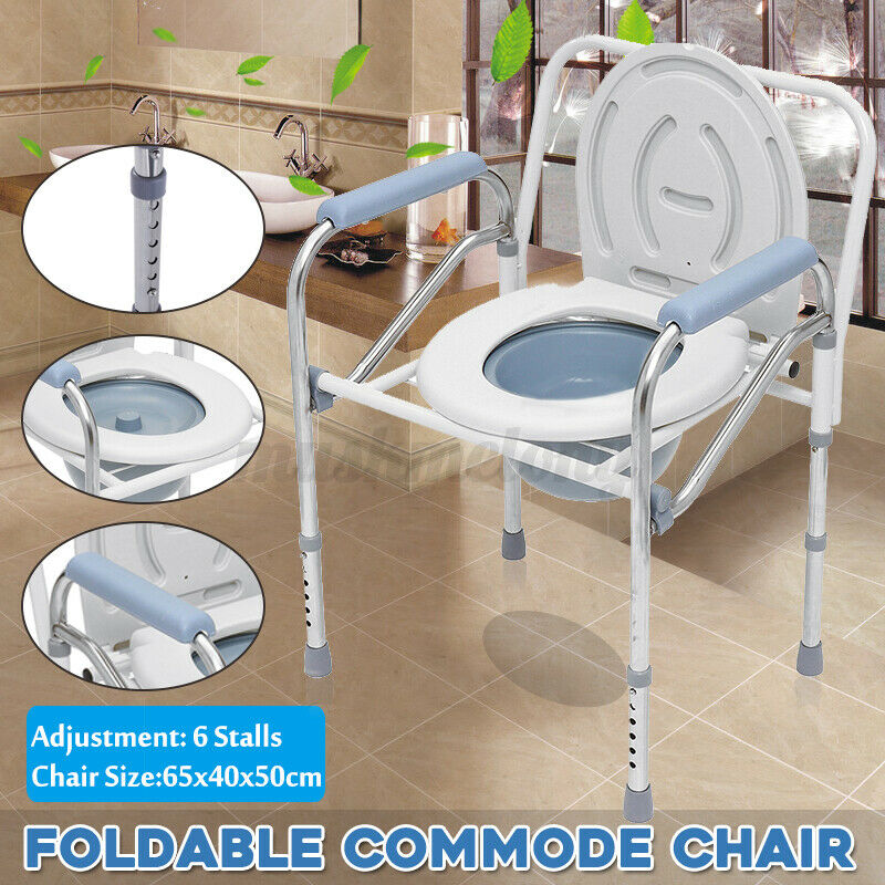 Adult Toilet Seat Potty Chair Bathroom Folding Commode Chamb
